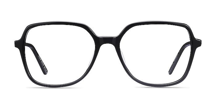 Lenny Noir Acetate-metal Montures de lunettes de vue d'EyeBuyDirect