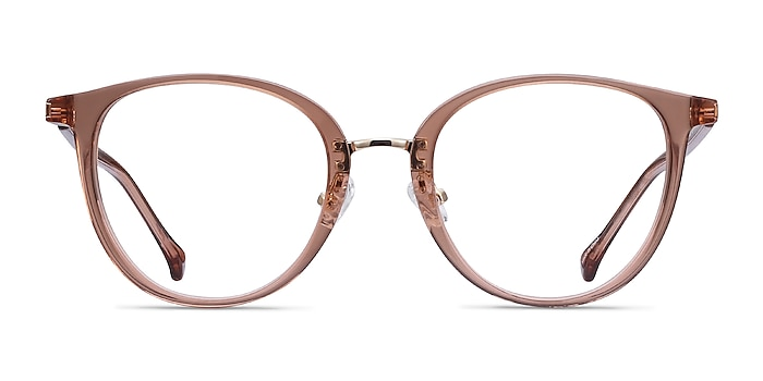 Shelby Clear Brown Acetate-metal Eyeglass Frames from EyeBuyDirect