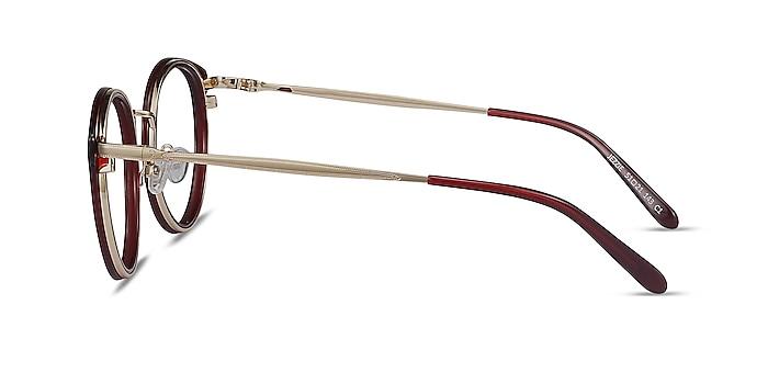 Jezzie Burgundy & Gold Acetate-metal Eyeglass Frames from EyeBuyDirect