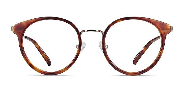 Jezzie Tortoise & Gold Acetate-metal Eyeglass Frames