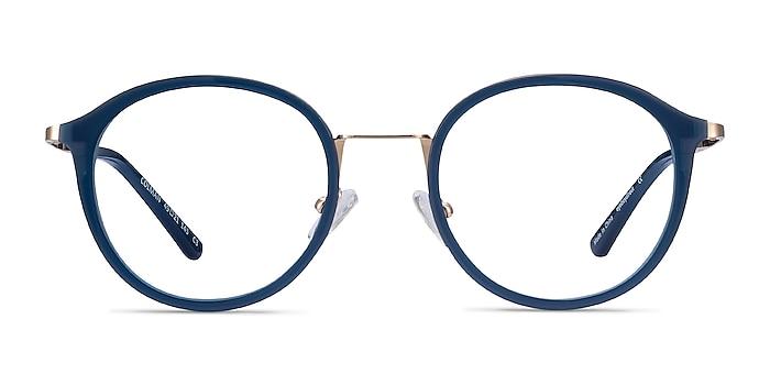 Colman Navy Acetate-metal Eyeglass Frames from EyeBuyDirect