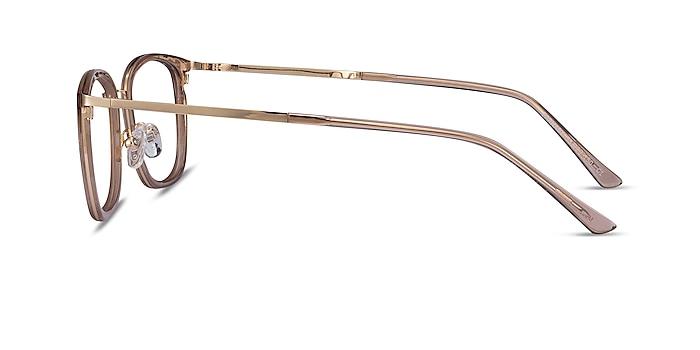 Barnaby Clear Brown Acetate-metal Eyeglass Frames from EyeBuyDirect