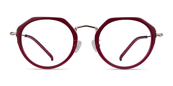 Claire Raspberry  Gold Acetate Eyeglass Frames