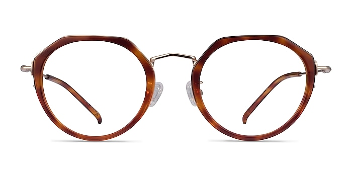 Claire Tortoise  Gold Acetate Eyeglass Frames from EyeBuyDirect