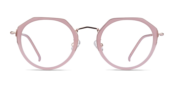 Claire Pink  Rose Gold Acetate Eyeglass Frames