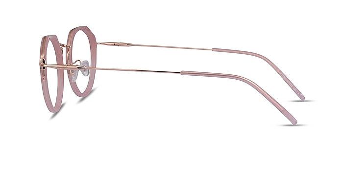 Claire Pink  Rose Gold Acetate Eyeglass Frames from EyeBuyDirect