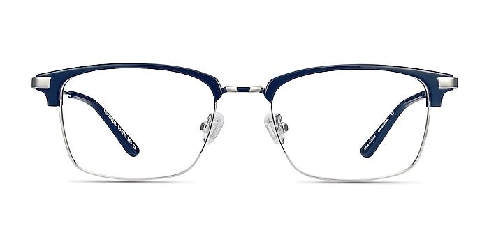Maxwell Bleu marine  Acetate-metal Montures de lunettes de vue d'EyeBuyDirect