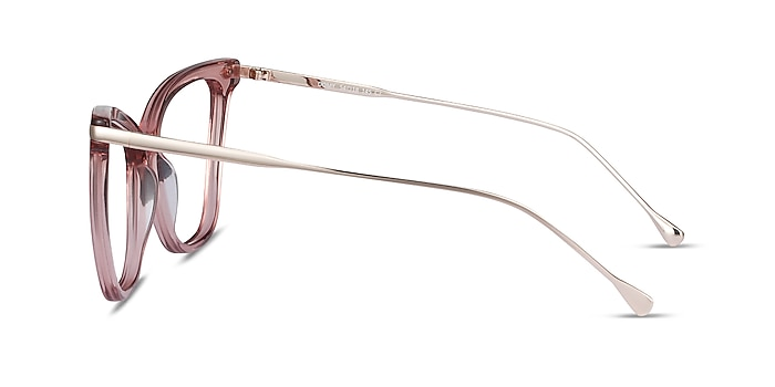 Domy Clear Pink Acetate-metal Eyeglass Frames from EyeBuyDirect