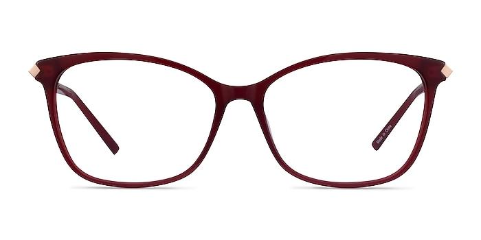 Ashley Burgundy Acetate-metal Eyeglass Frames from EyeBuyDirect