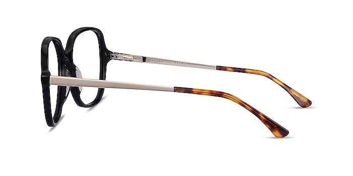 Corey Noir Acetate-metal Montures de lunettes de vue d'EyeBuyDirect