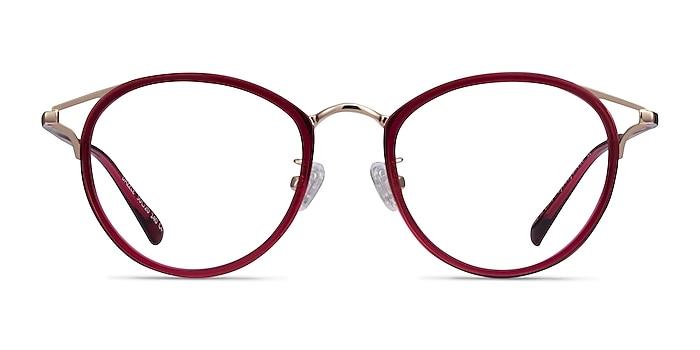 Dazzle Raspberry Acetate-metal Eyeglass Frames from EyeBuyDirect