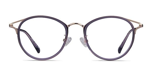 Dazzle Purple Acetate-metal Eyeglass Frames