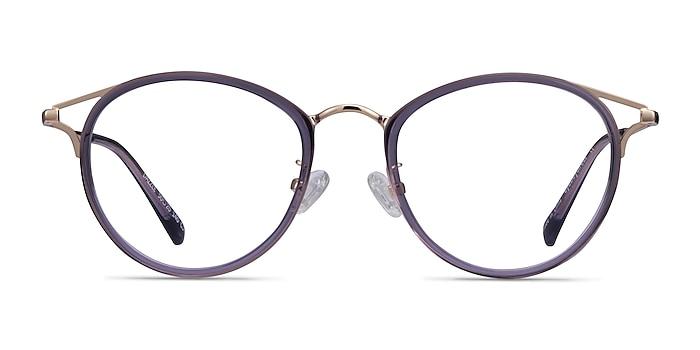 Dazzle Violet Acetate-metal Montures de lunettes de vue d'EyeBuyDirect