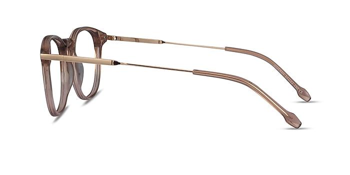 Giverny Clear Brown Acétate Montures de lunettes de vue d'EyeBuyDirect