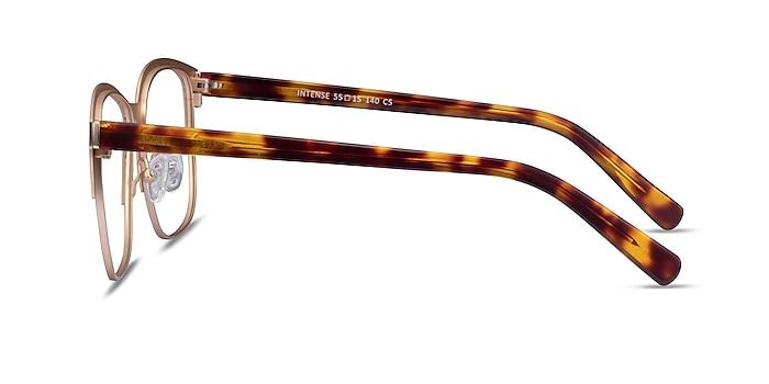 Intense Matte Gold Tortoise Acetate Eyeglass Frames from EyeBuyDirect