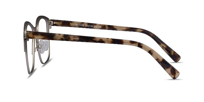 Intense Matte Silver Tortoise Acetate-metal Eyeglass Frames from EyeBuyDirect