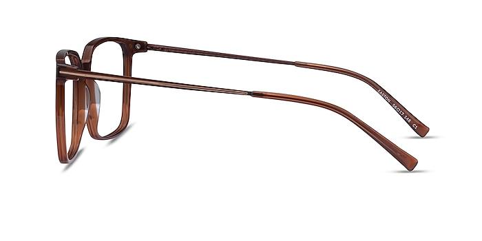 Easton Clear Brown Acetate-metal Montures de lunettes de vue d'EyeBuyDirect