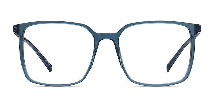 Easton Clear Blue Acetate-metal Montures de lunettes de vue d'EyeBuyDirect