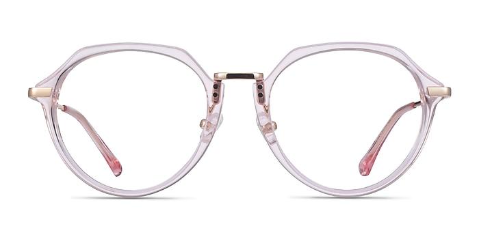 Tamara Clear Pink Acetate Eyeglass Frames from EyeBuyDirect