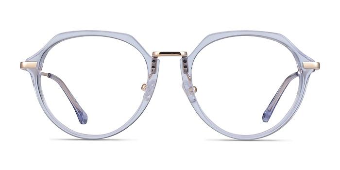 Tamara Clear Blue Acetate Eyeglass Frames from EyeBuyDirect