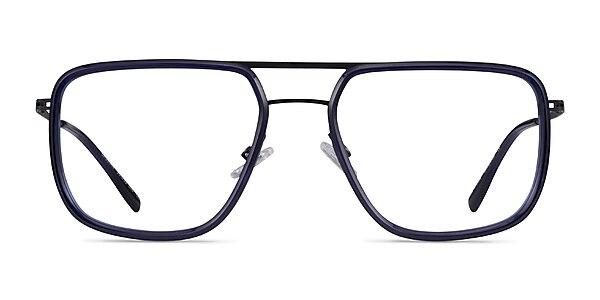 Cassian Navy Gunmeal Acétate Montures de lunettes de vue