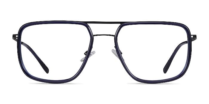 Cassian Navy Gunmeal Acétate Montures de lunettes de vue d'EyeBuyDirect