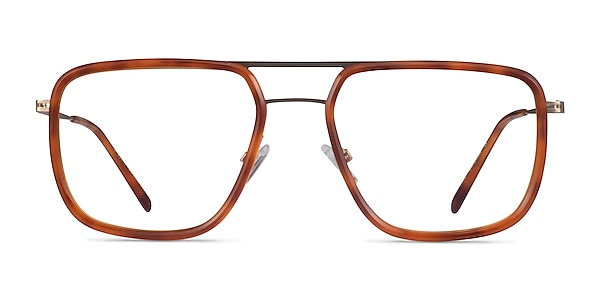 Cassian Tortoise Gold Acétate Montures de lunettes de vue