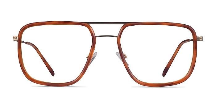 Cassian Tortoise Gold Acétate Montures de lunettes de vue d'EyeBuyDirect