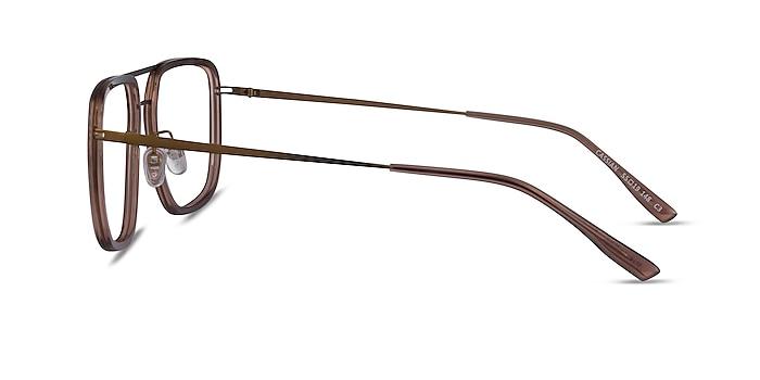 Cassian Brown Bronze Acétate Montures de lunettes de vue d'EyeBuyDirect
