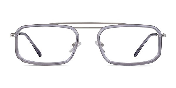 Watson Clear Gray  Silver Acétate Montures de lunettes de vue