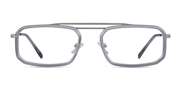 Watson Clear Gray  Silver Acétate Montures de lunettes de vue d'EyeBuyDirect