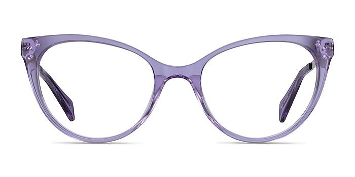Beauty Clear Purple Acetate-metal Montures de lunettes de vue d'EyeBuyDirect