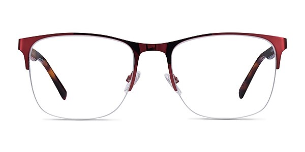 Emmerson Burgundy & Tortoise Acetate-metal Eyeglass Frames