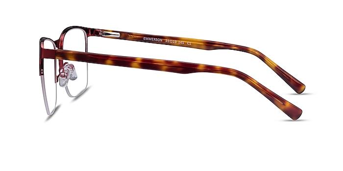 Emmerson Burgundy & Tortoise Acetate-metal Eyeglass Frames from EyeBuyDirect