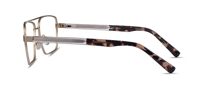 Colton Gold, Clear & Tortoise Acétate Montures de lunettes de vue d'EyeBuyDirect
