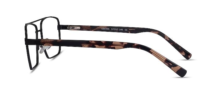 Colton Black & Tortoise Acetate Eyeglass Frames from EyeBuyDirect