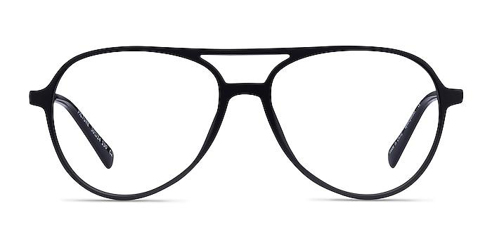 Picture Matte Black & Silver Plastic-metal Montures de lunettes de vue d'EyeBuyDirect