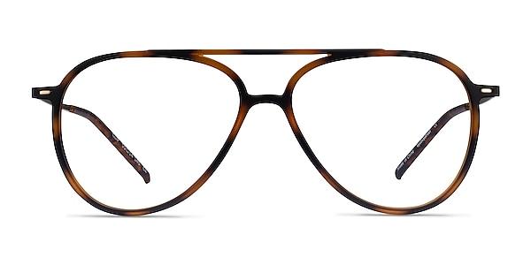 Clip Matte Tortoise & Gold Plastic-metal Montures de lunettes de vue