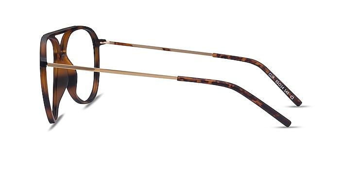 Clip Matte Tortoise & Gold Plastic-metal Montures de lunettes de vue d'EyeBuyDirect