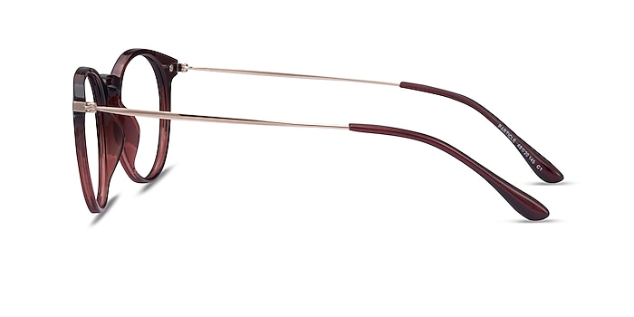 Particle Clear Red & Rose Gold Plastic-metal Eyeglass Frames from EyeBuyDirect