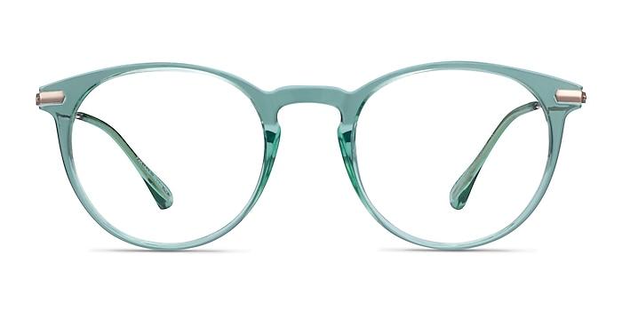 Particle Clear Green & Rose Gold Plastic-metal Montures de lunettes de vue d'EyeBuyDirect