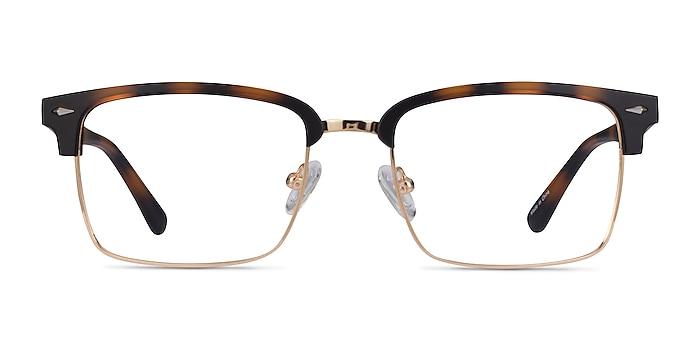 Renaissance Matte Tortoise & Gold Metal Eyeglass Frames from EyeBuyDirect
