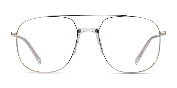 Subject Gold & Clear Acetate-metal Montures de lunettes de vue d'EyeBuyDirect