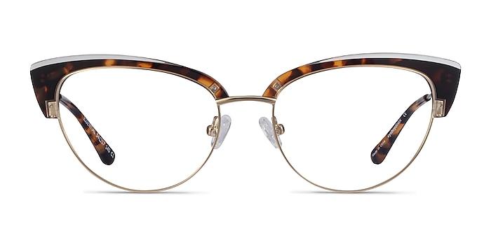 Essential Tortoise & Gold Acetate-metal Montures de lunettes de vue d'EyeBuyDirect