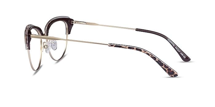 Essential Leopard & Gold Acetate-metal Montures de lunettes de vue d'EyeBuyDirect