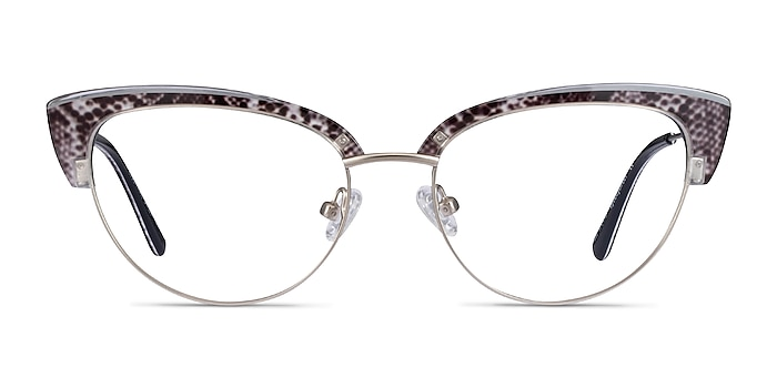 Essential Snake & Silver Acetate-metal Montures de lunettes de vue d'EyeBuyDirect