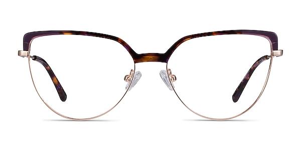Dona Floral & Rose Gold Acetate-metal Eyeglass Frames