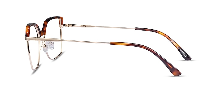 Further Tortoise & Gold Acetate-metal Eyeglass Frames from EyeBuyDirect