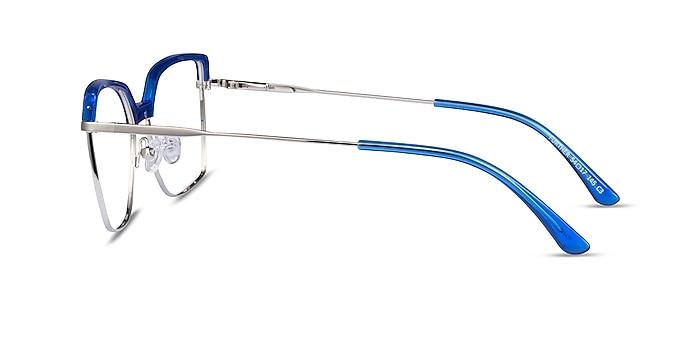 Further Blue & Silver Acetate-metal Eyeglass Frames from EyeBuyDirect