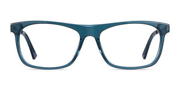 Drop Green  Silver Acetate Eyeglass Frames
